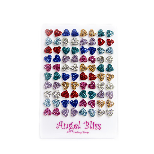 Angel Bliss Silver earrings Hearts