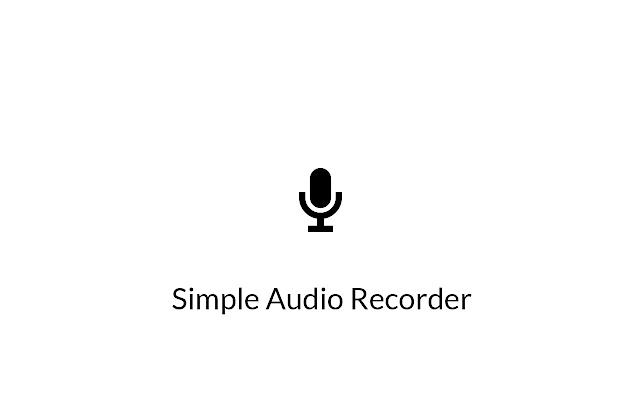 Simple Audio Recorder