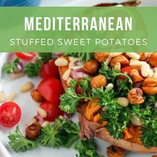 Mediterranean Stuffed Sweet Potatoes.