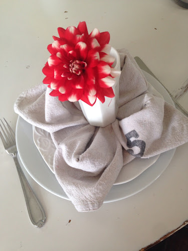 Flower folding napkin tutorial, the style sisters, napkins