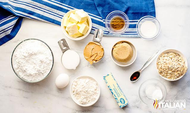 homemade peanut butter cookies ingredients