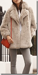 Hobbs natural faux fur coat