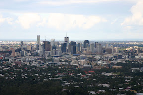Brisbane Central Business District from Mt Coot-tha