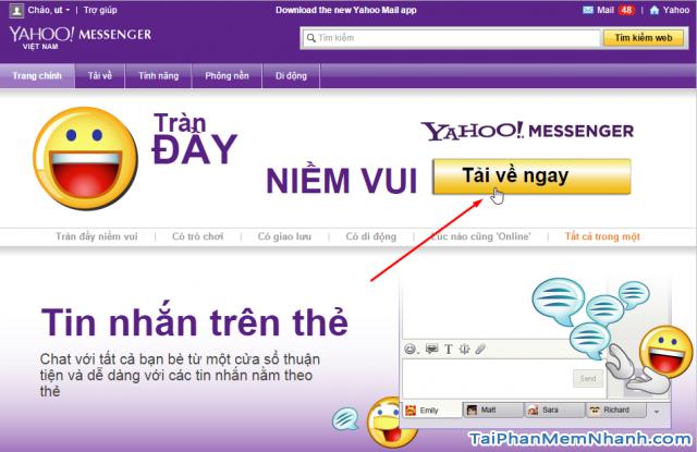 Tải Yahoo Messenger từ trang chủ Yahoo.com