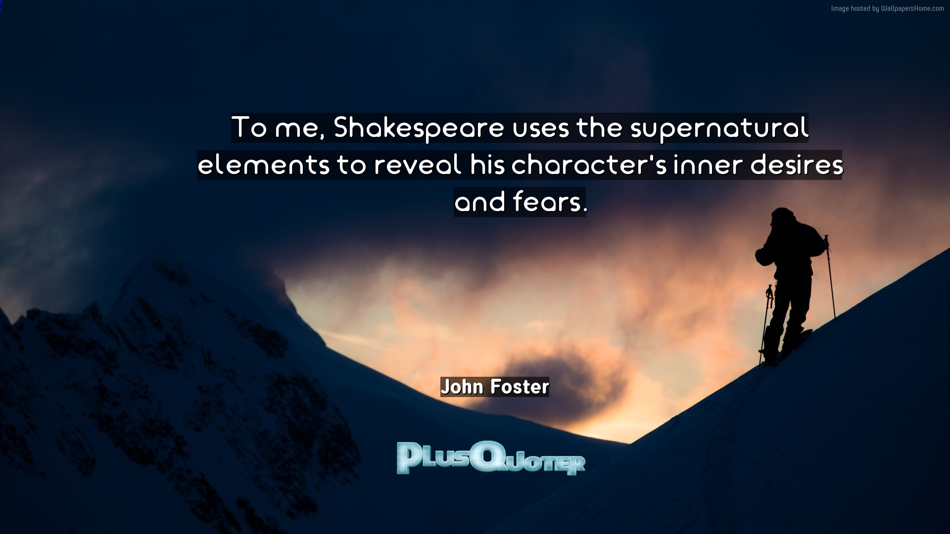to me shakespeare uses the supernatural elements to reveal his   to me shakespeare uses the supernatural elements to reveal his character s inner desires and fears john foster com