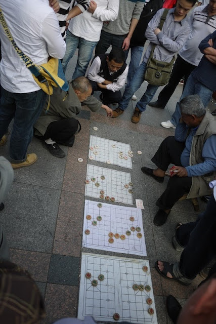 playing Xiangqi in Zhuhai, Guangdong