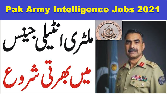 Pak Army Intelligence Jobs 2021