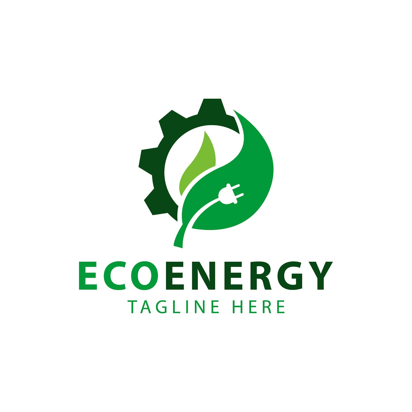 Leaf Gear Wheel Symbol Eco Energy Logo Template Design Vector Free Download Vector CDR, AI, EPS and PNG Formats