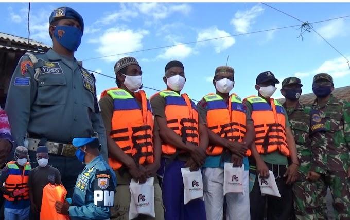 Lanal Kotabaru Kembali Bantu Nelayan di Kotabaru
