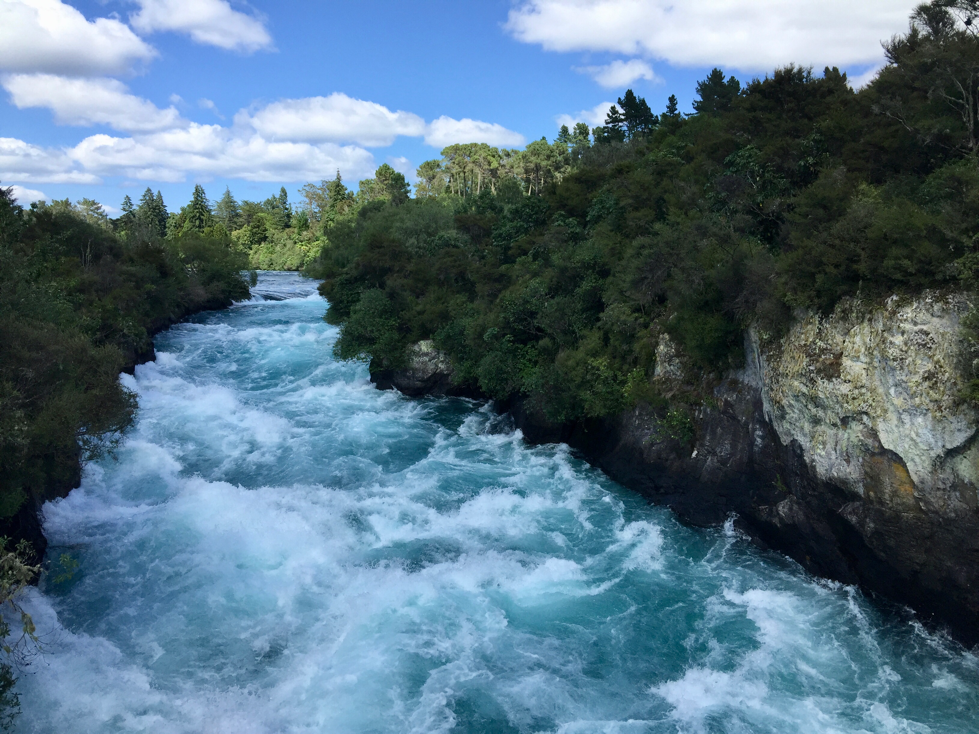 Below Huka Falls