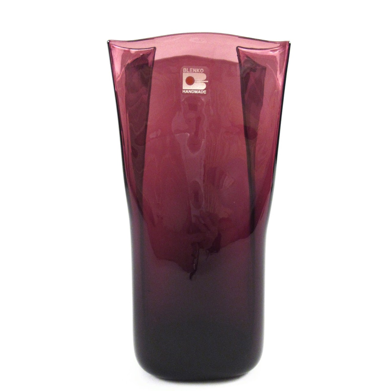 Blenko blown glass paper bag vase in amethyst shophousingworks floridaeventfo Gallery