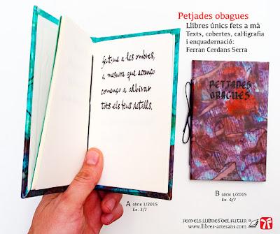llibre de poemes manuscrit