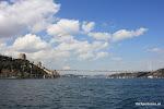 Brug over de Bosporus, links is Europa, rechts is Azie