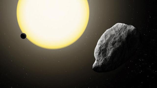 Ilustração artística do recém descoberto asteroide 2021 PH27 - Carnegie