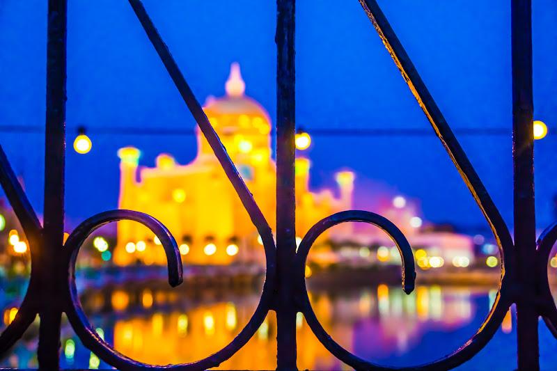ブルネイ オールドモスク ライトアップ3