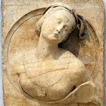 Anonyme (région de la Loire) - Buste de femme en médaillon (milieu du XVIe siècle)