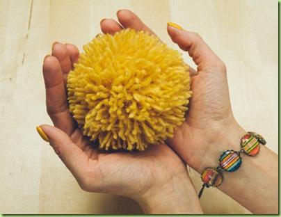yellow pom