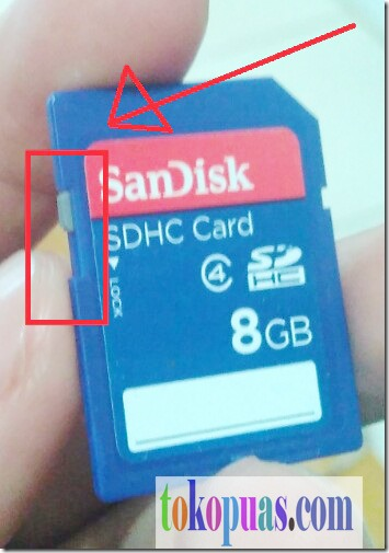 membuka memory card yang terkunci