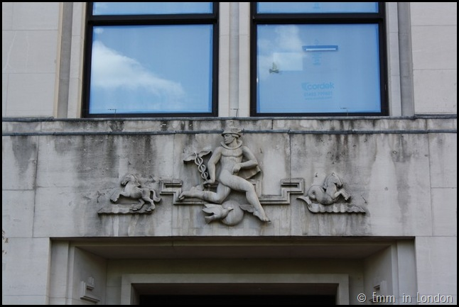 Mantel detail on the Adelphi Building
