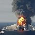 Vazamento de oleoduto provoca incêndio no mar no Golfo do México