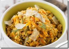 Risotto con zucca, arancia e Grana Padano