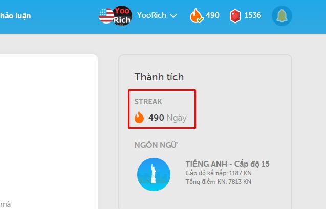 học tiếng anh với Duolingo