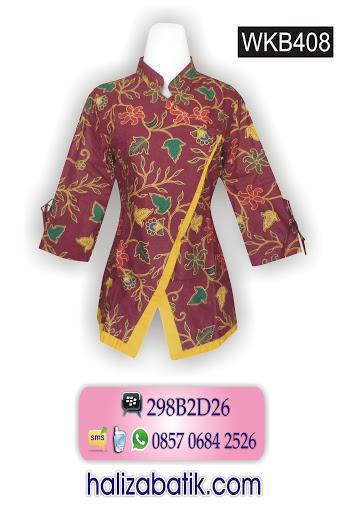 model batik wanita, toko batik online, blus batik
