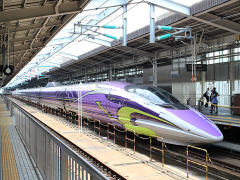 JR西日本 山陽新幹線「こだま741号」500 TYPE EVA 新大阪駅にて