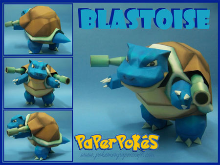 Pokemon Blastoise Papercraft v2