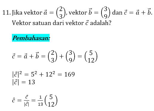 Soal dan Pembahasan Vektor 11