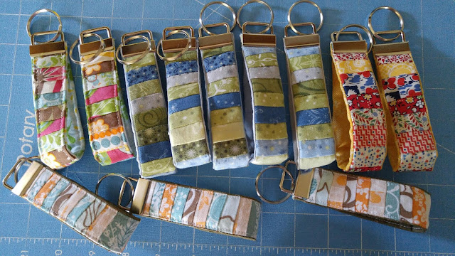 quilted key chains