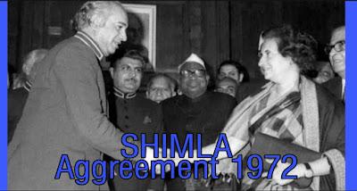 What is Shimla Agreement 1972 ? An Analysis
