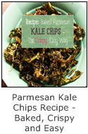 baked parmesan kale chips recipe - easy, crispy