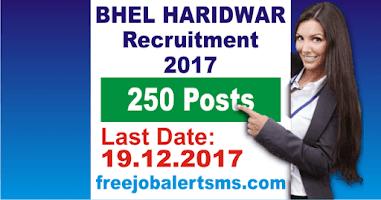 BHEL Haridwar Apprentice Recruitment 2017