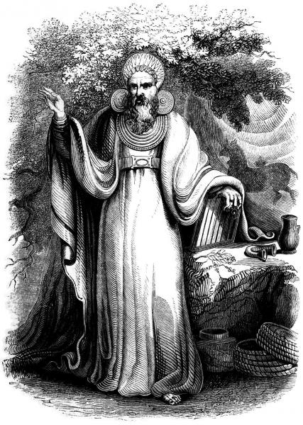 Archdruid In His Full Judicial Costume, Celtic And Druids
