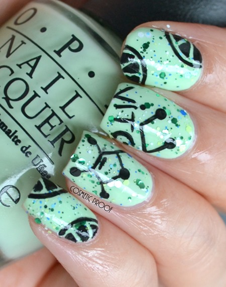 OPI Lime Nail Art Review Seriously Citrus and That's Hularious Swatch (1)