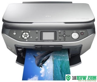 How to reset flashing lights for Epson RX640 printer