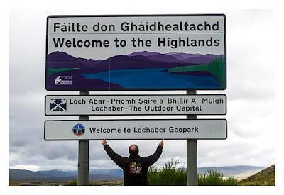 Produkttest Softshell-Jacke - Die Rückseite der Jacke in den schottischen Highlands