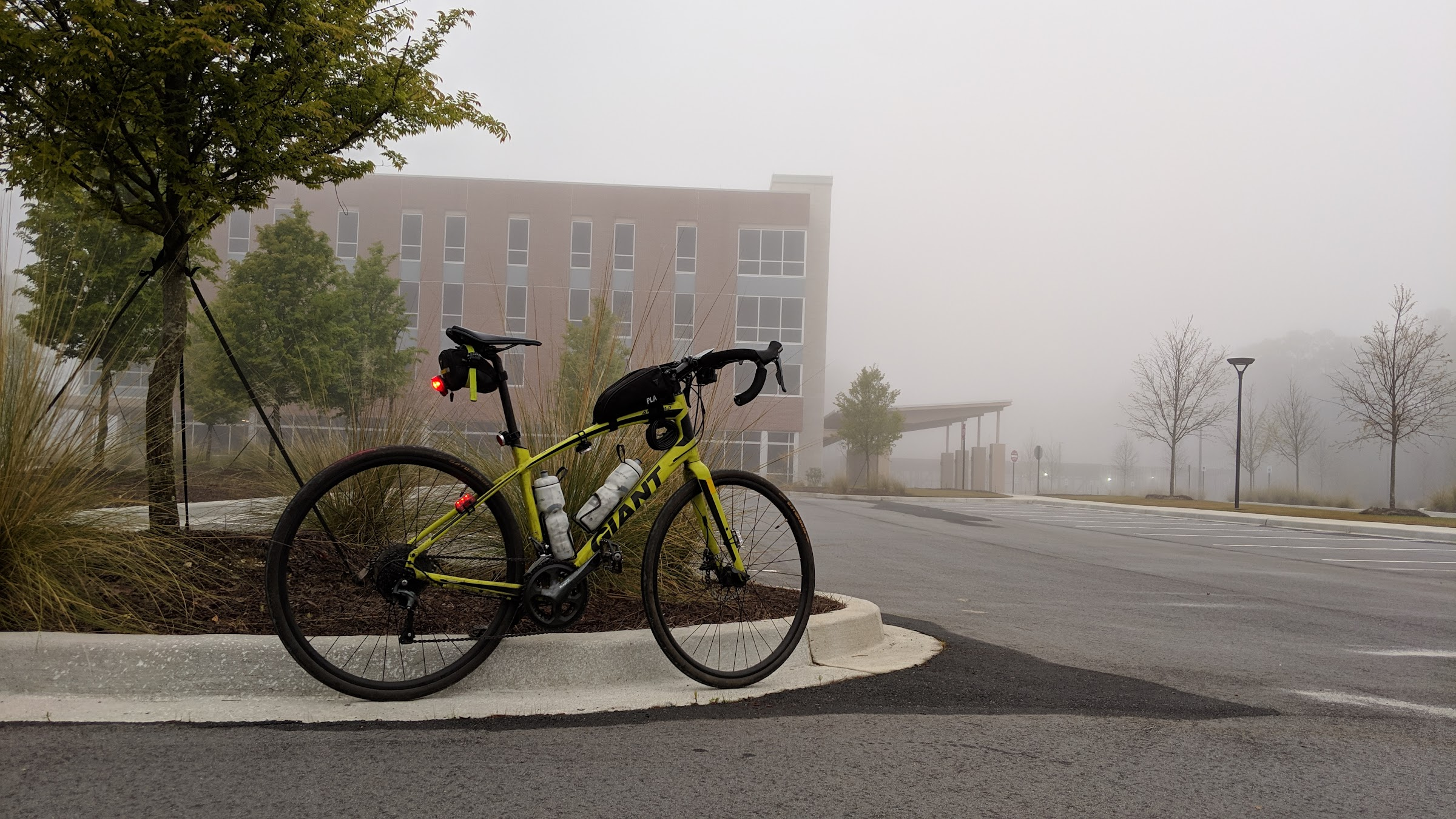 Foggy bicycle