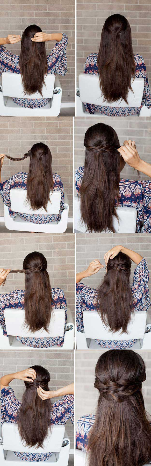 ِAwosome Half up-Half down Hairstyles And TUTORIAL for long hair 2