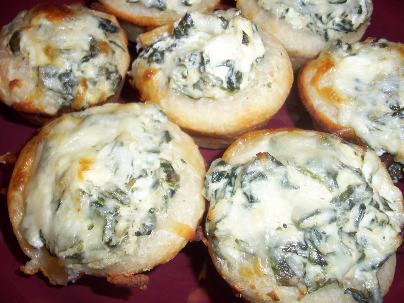 Flavors by Four: Baked Spinach Dip Mini Bread Bowls
