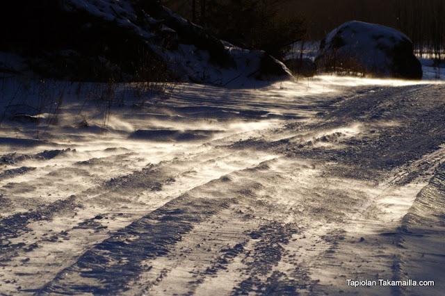 talvimyrsky tammikuu lumi juoksulumi lumipölly