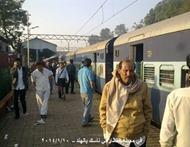 في محطة القطار في ناسك بالهند 10 يناير 2014