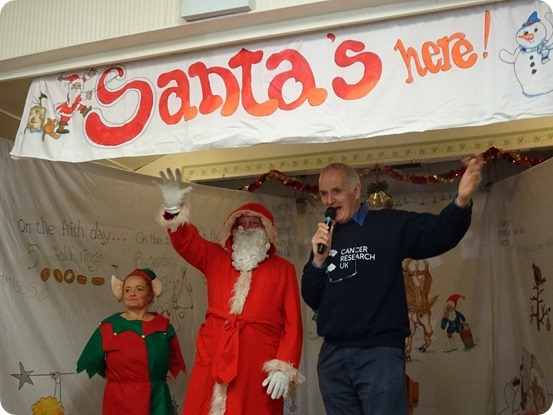 Santa Claus and John Pass open the Xmas Fair