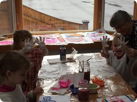 Painting at Grandma Hamiltons
