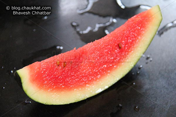 A slice of a watermelon