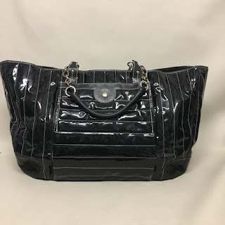 Lambertson Truex Quilted Patent Leather Bag