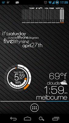 *最時尚又特殊的時鐘小工具:Zooper Widget (Android App) 4
