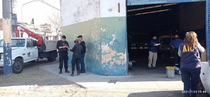 Disparos a un Taller Mecánico y susto en plena Av. San Martin y Emilio Zolá esta tarde