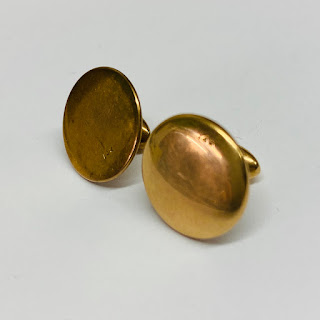 14K Gold Mismatched Collar Studs